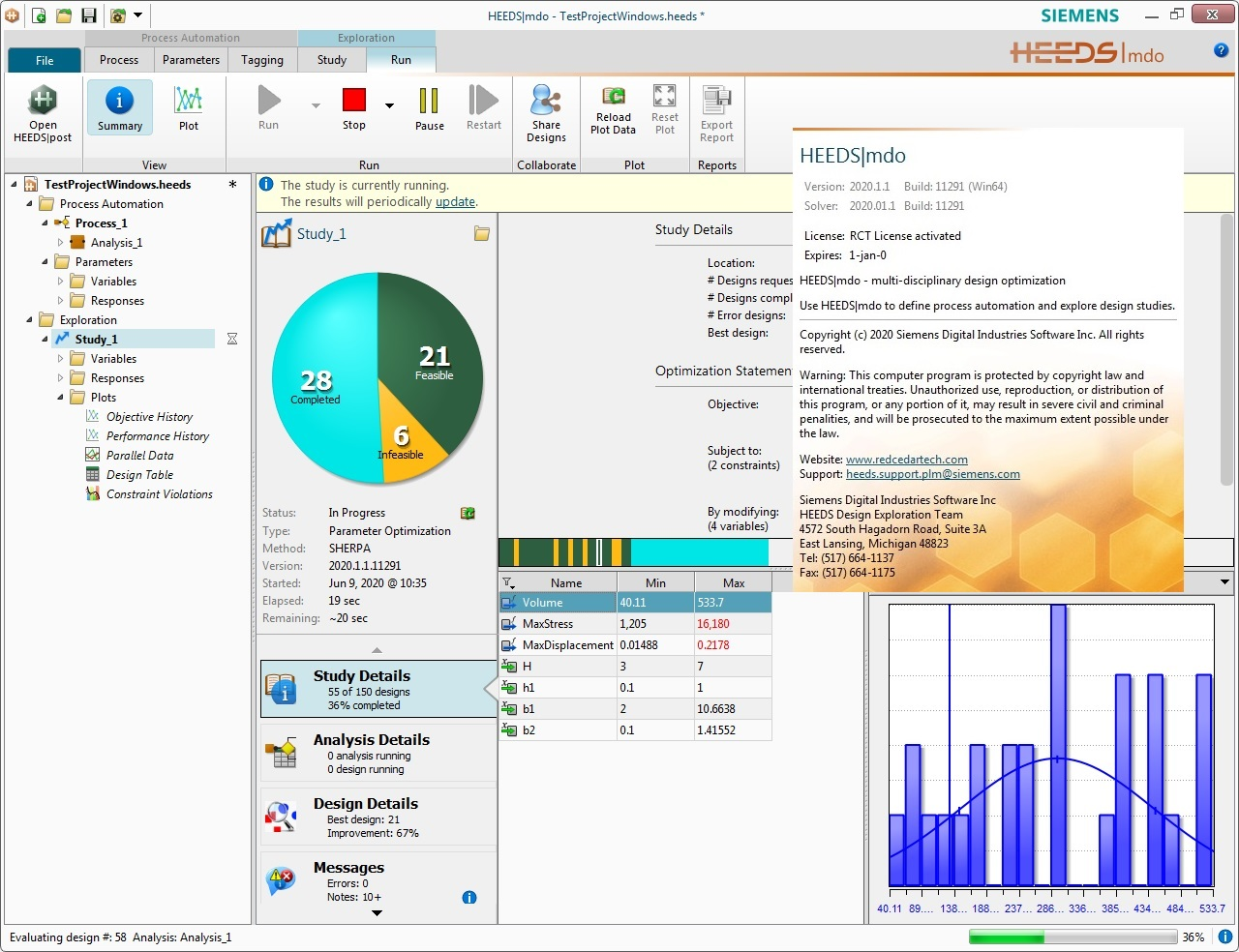 Working with Siemens HEEDS MDO 2020.1.1 full license