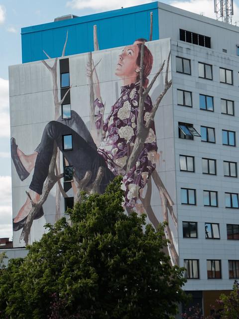 Mural in Borås Sweden