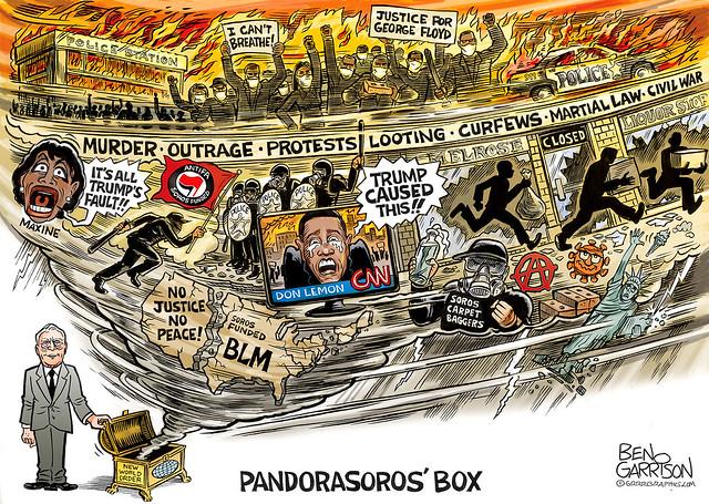 George Floyd Riots Cartoon