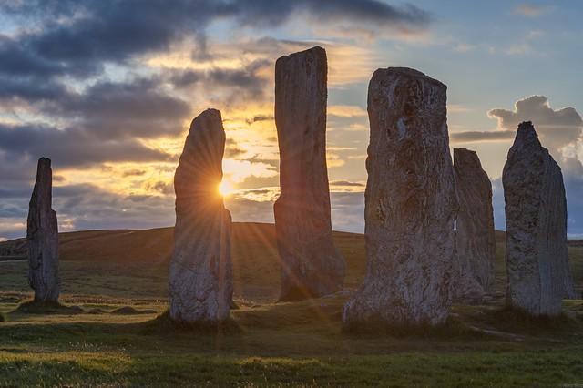 *Standing Stones of Callanish @ sunset*