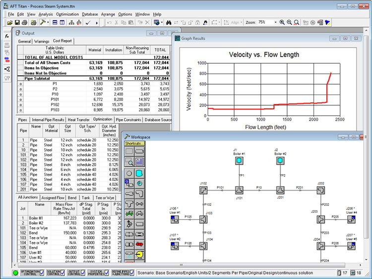 Working with Applied Flow Technology - AFT Titan 4.0 full license