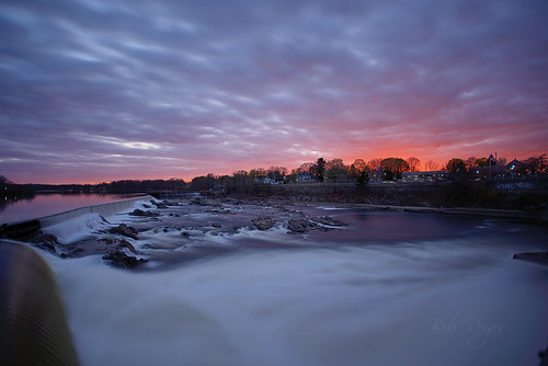 d800 nikon reyes merrimack river falls waterfalls gatehouse lowell sunset sunrise massachusetts