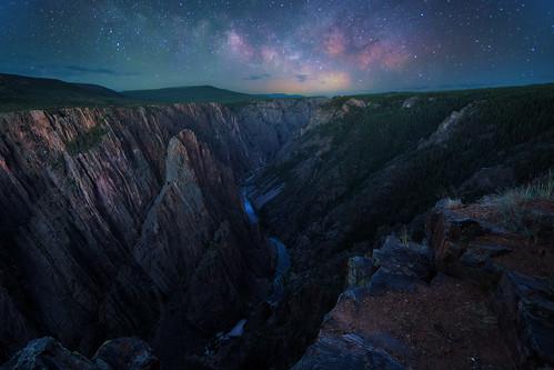 colorado blackcanyonofthegunnisonnationalpark nationalparks milkyway night stars canyon canon6d canonef14mmf28lii
