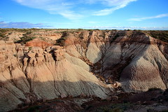 Rock Formations and Desert Landcape, Blue Mesa Area - Petrified Forest National Park, Arizona