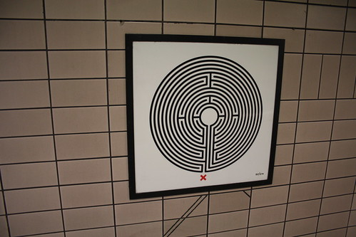 Art on the Underground Labyrinth 55 Paddington close up
