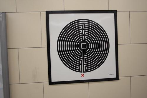 Art on the Underground Labyrinth 269 Heathrow 123 close up