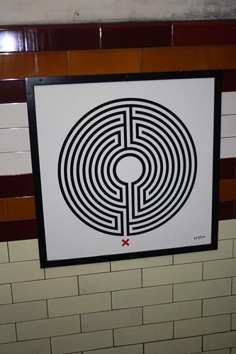 Art on the Underground Labyrinth 227 Holloway Road close up