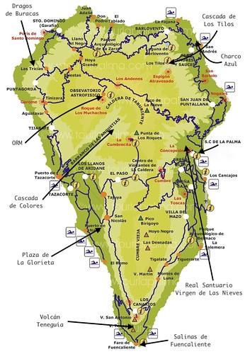 Mapa isla de La Palma