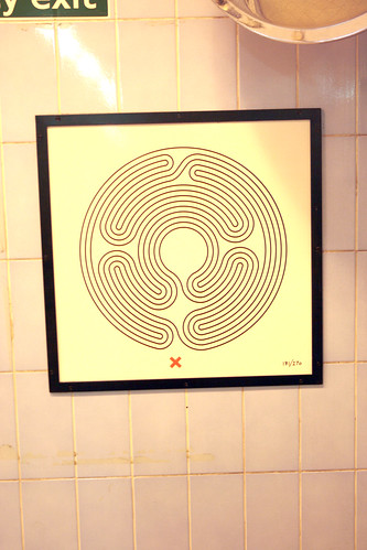 Art on the Underground Labyrinth 181 Golders Green close up