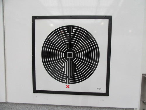 Art on the Underground Labyrinth 128 earls Court close up