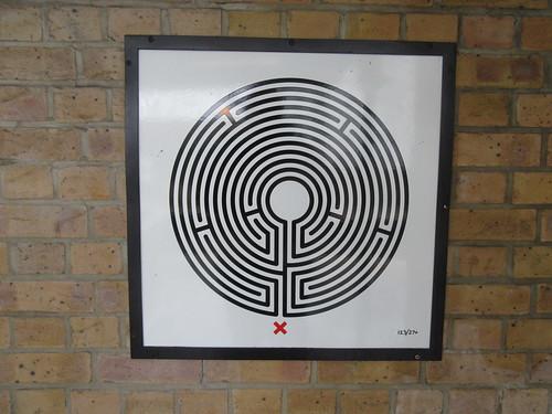 Art on the Underground Labyrinth 123 East Putney close up
