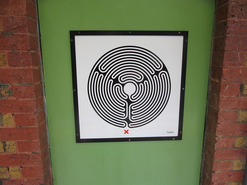 Art on the Underground Labyrinth 121 Wimbledon Park closeup