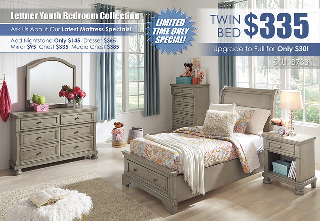 Lettner Youth Twin Bedroom Collection A La Carte_B733-21-26-45-87-84S-183-91