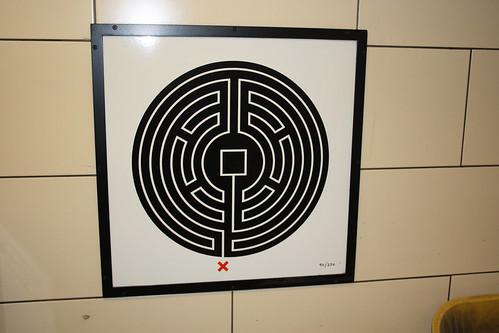 Art on the Underground Labyrinth 90 Mile End