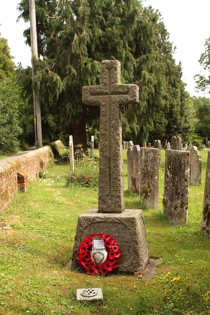 War Memorial St James Churchyard Ashurst West Sussex UK