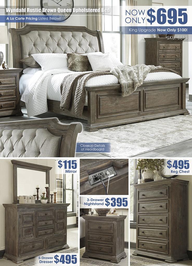 Wyndahl Upholstered Bed A La Carte Special_B813_wInsert