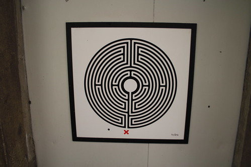 Art on the Underground Labyrinth 21 Ealing Broadway close up