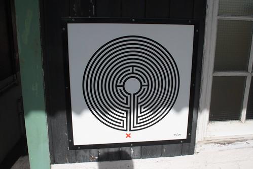 Art on the Underground Labyrinth 41 Preston Road close up