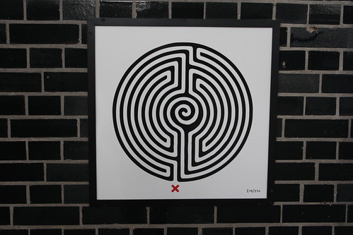 Art on the Underground Labyrinth 219 Oakwood close up