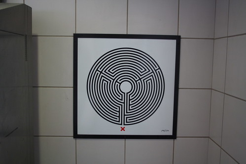 Art on the Underground Labyrinth 196 West Hampsted close up