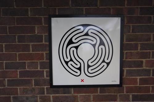 Art on the Underground Labyrinth 191 Wembley Park close up
