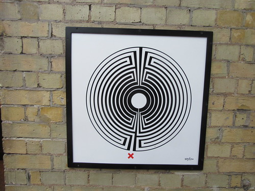 Art on the Underground Labyrinth 127 West Brompton close up