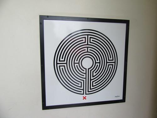 Art on the Underground Labyrinth 122 Southfields close up