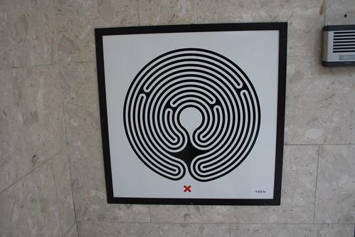 Art on the Underground Labyrinth 120 Wimbledon close up