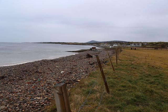 The coast west of Portgordon