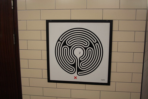 Art on the Underground Labyrinth 100 Temple close up