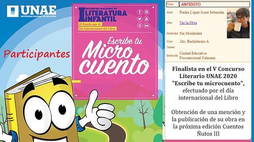 FINALISTA, Concurso Nacional de Microcuentos