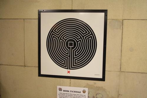Art on the Underground Labyrinth 225 Manor House close up