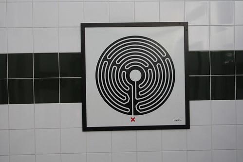 Art on the Underground Labyrinth 194 Willesden Green close up