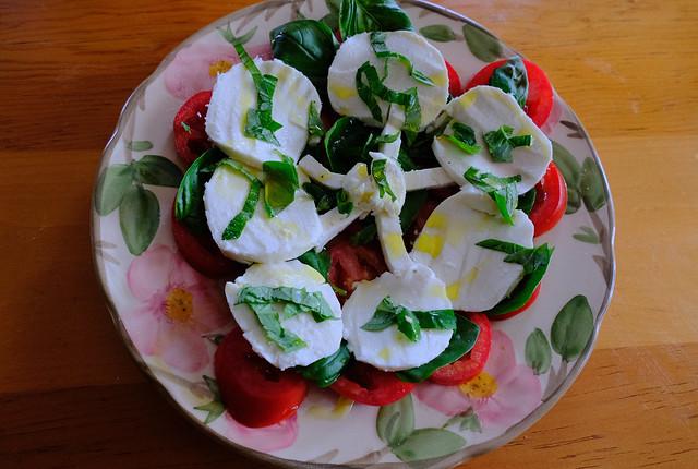 Mozzarella, Tomato, Basil