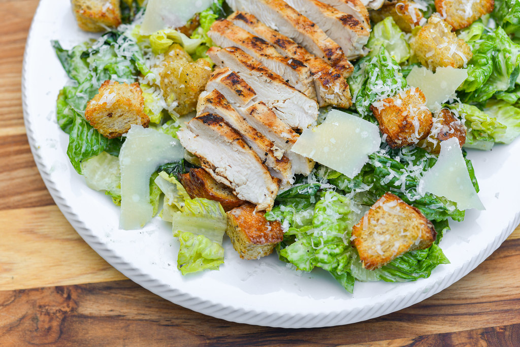 Grilled Chicken Caesar Salad Recipe The Meatwave