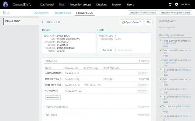 ControlShift Failover SDDC