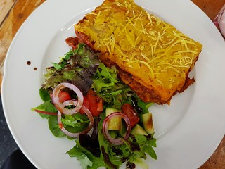 Vegan Lasagne at The Cat Cuddle Cafe
