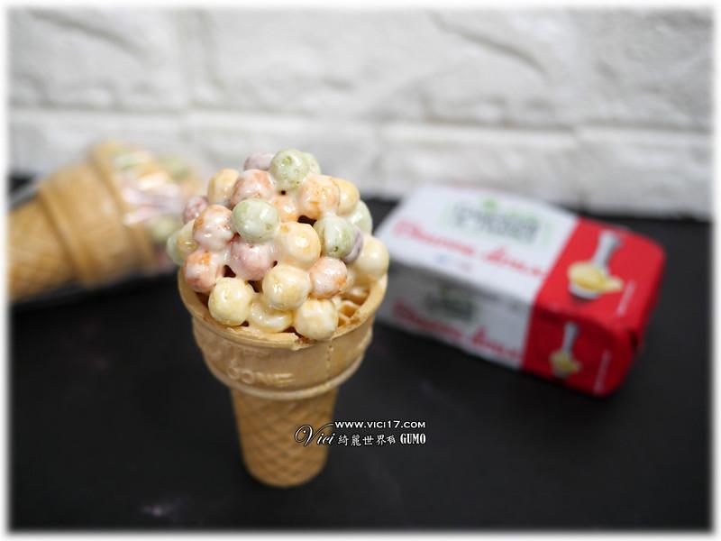 彩虹棉花糖甜筒045