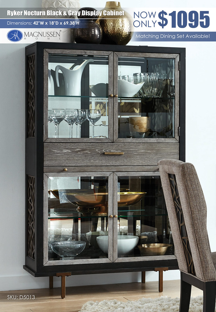 Ryker Nocturn Black and Gray Display Cabinet_D5013_Logo