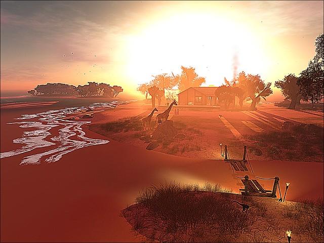 An African Sunset Glows