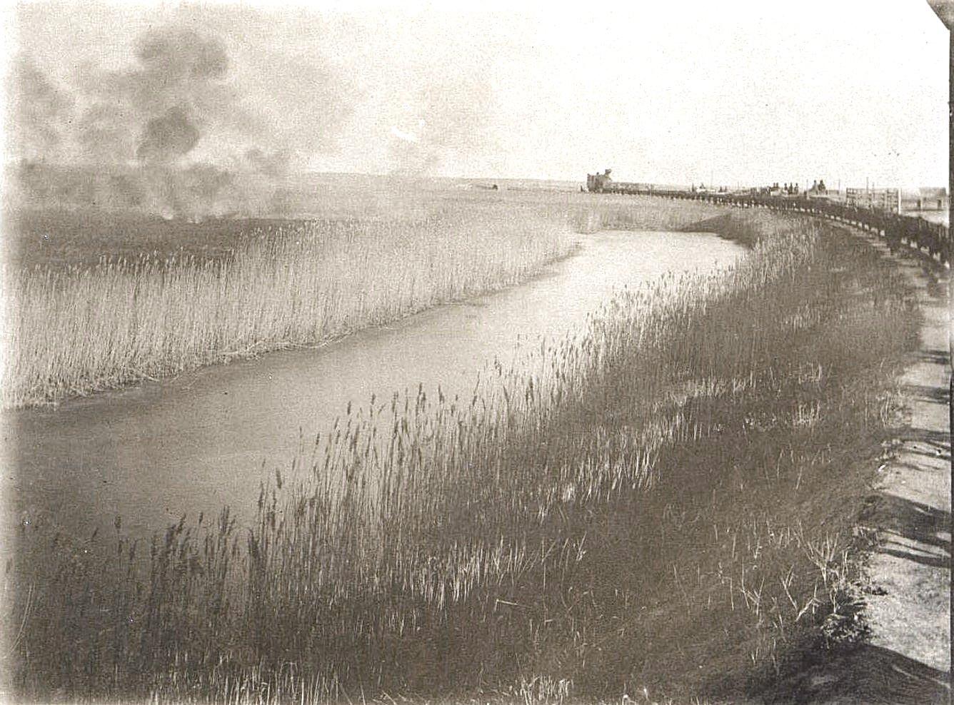 49. В степях Монголии. Степные пожары. Октябрь 1900