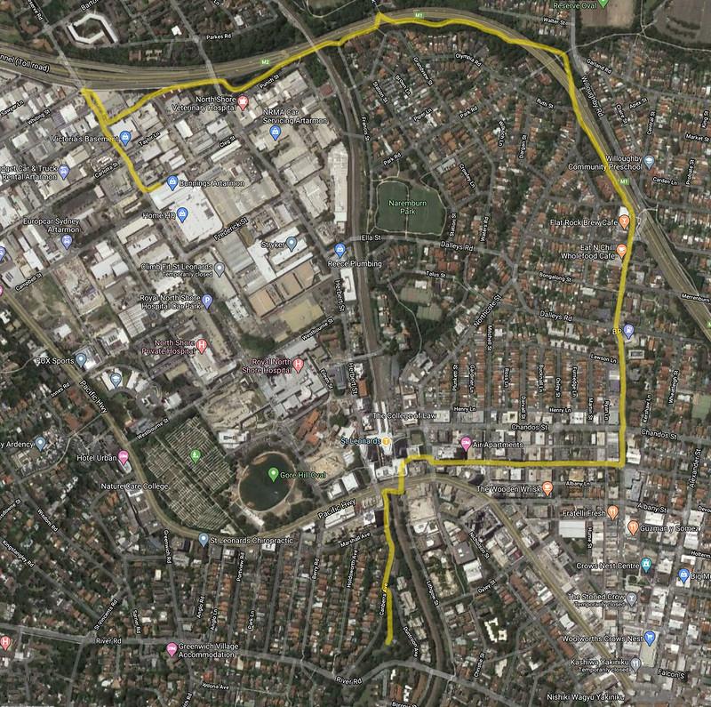 Artarmon grunge walk map