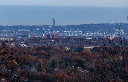 congestion pricing nj new jersey distant view urban industrial landscape