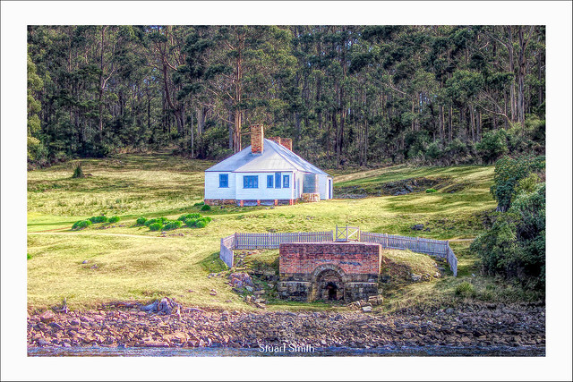 Lime Kiln & The Master Shipwrights House at the Dockyard, Port Arthur Penal Settlement, Port Arthur, Tasmania, Australia