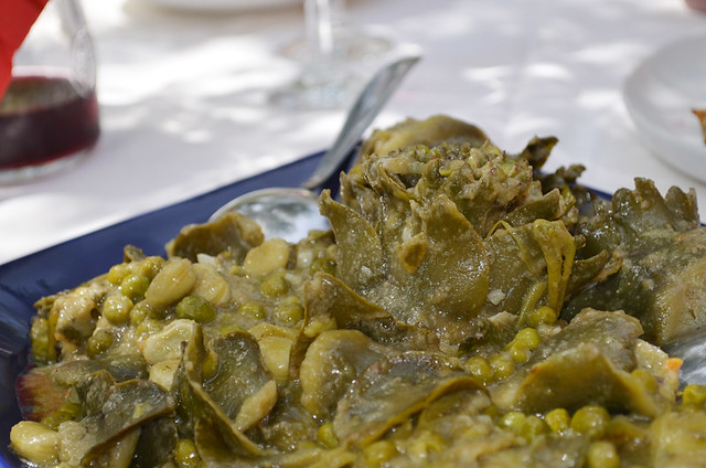 Artichoke and green beans, Hvar, Croatia