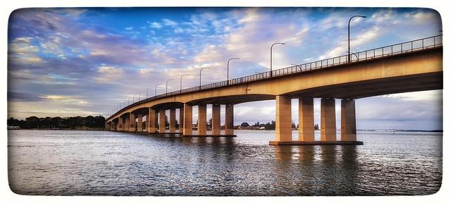 Captain Cook Bridge at dusk