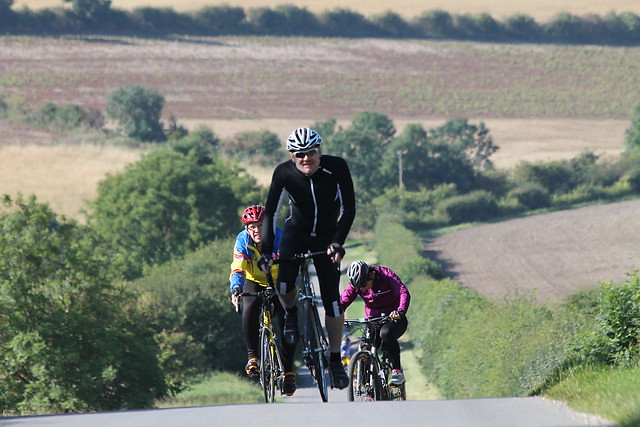 Yorkshire Wolds Cycle Route Stoneknowle Hill climb Gazza