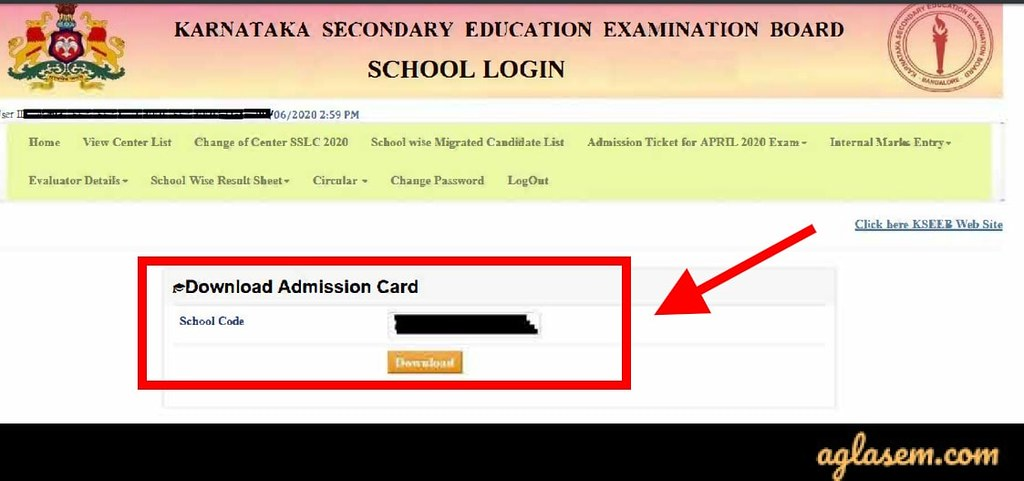 Karnataka SSLC Hall Ticket 2020 (Available) - Download Revised 10th Admit Card Here