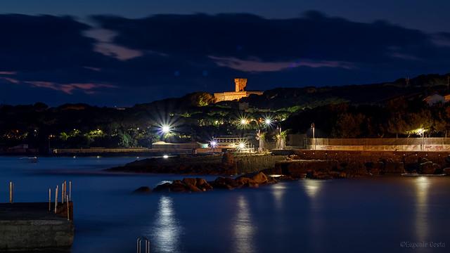 Castello Pasquini al crepuscolo. - Pasquini Castle at dusk.