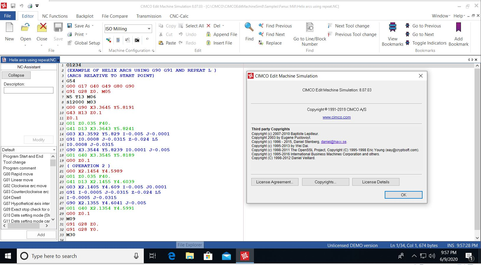 Working with CIMCO Machine Simulation 8.07.03 full license